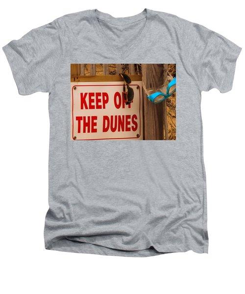 Keep Off The Dunes Men's V-Neck T-Shirt