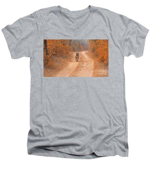Keep Walking Men's V-Neck T-Shirt by Pravine Chester