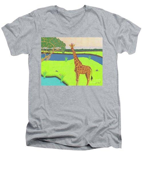 Keeping A Lookout Men's V-Neck T-Shirt
