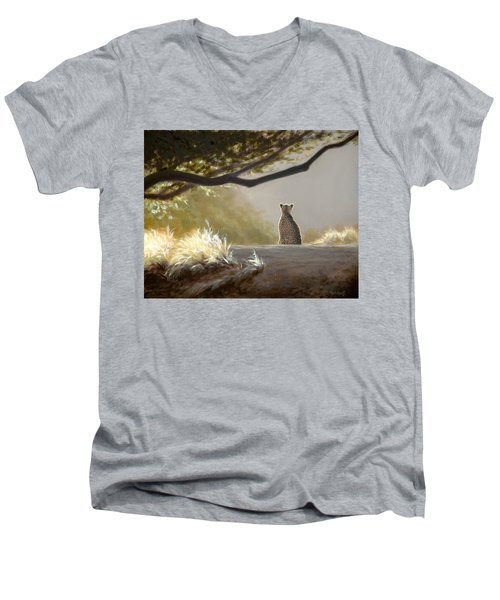 Keeping Watch - Cheetah Men's V-Neck T-Shirt
