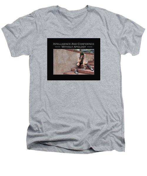 Kellie Peach 11-204 Men's V-Neck T-Shirt