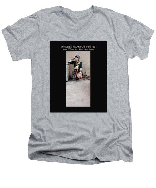Kellie Peach 3-52 Men's V-Neck T-Shirt