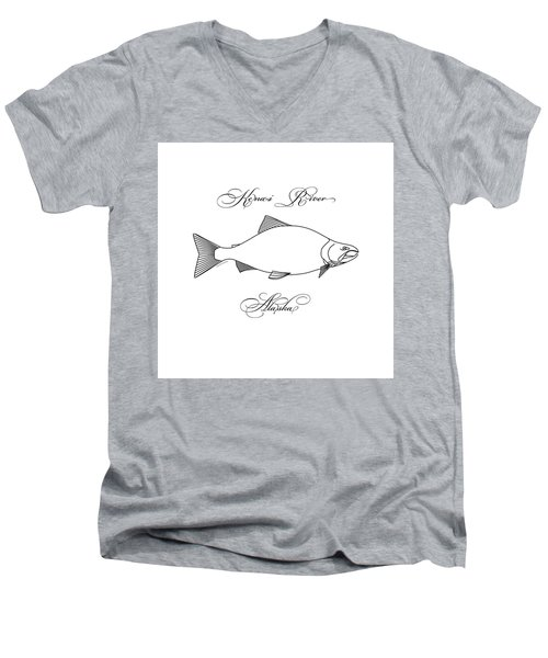 Kenai Sockeye Alaska Men's V-Neck T-Shirt