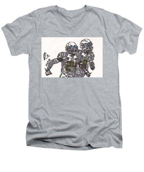 Kenjon Barner And Marcus Mariota Men's V-Neck T-Shirt