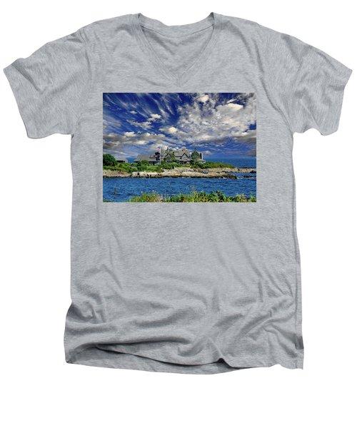 Kennebunkport, Maine - Walker's Point Men's V-Neck T-Shirt by Russ Harris