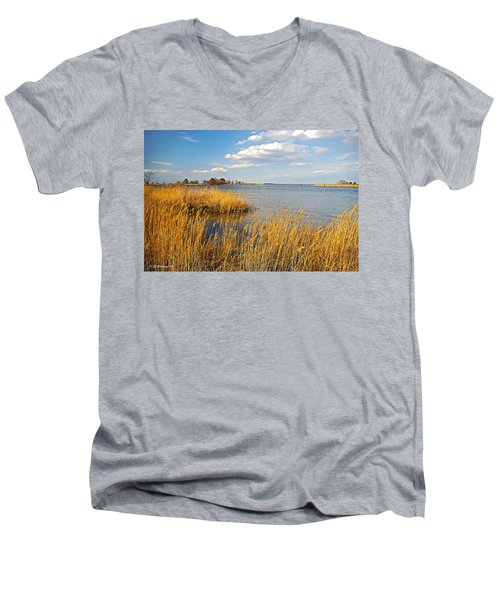 Kent Island Men's V-Neck T-Shirt by Brian Wallace