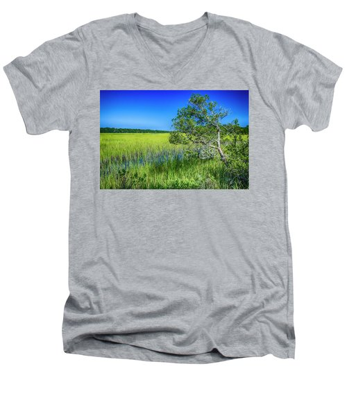 Kent Mitchell Nature Trail, Bald Head Island Men's V-Neck T-Shirt