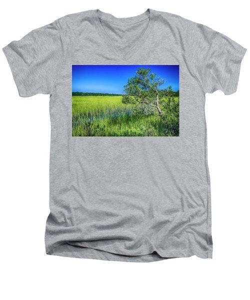 Kent Mitchell Nature Trail, Bald Head Island Men's V-Neck T-Shirt