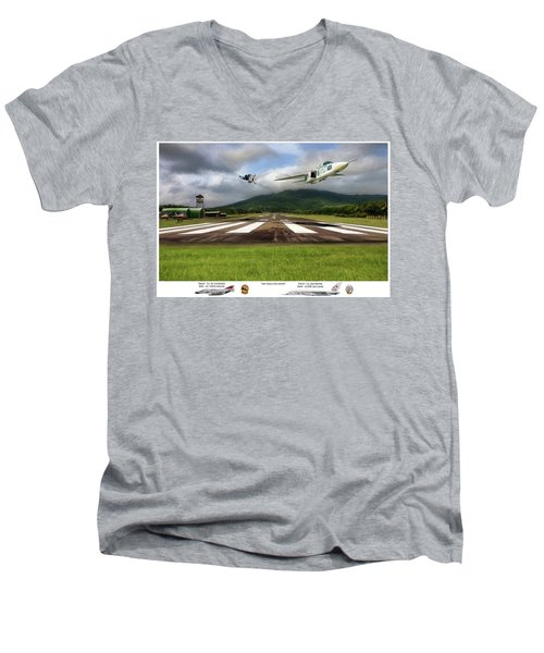 Kep Field Air Show Men's V-Neck T-Shirt by Peter Chilelli