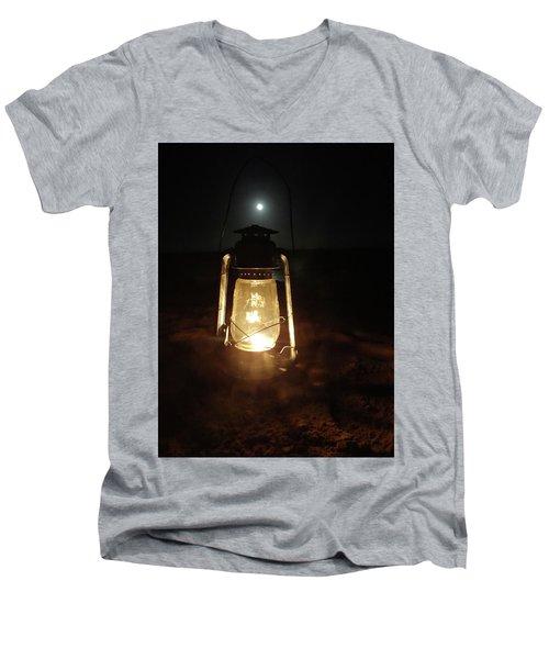 Kerosine Lantern In The Moonlight Men's V-Neck T-Shirt