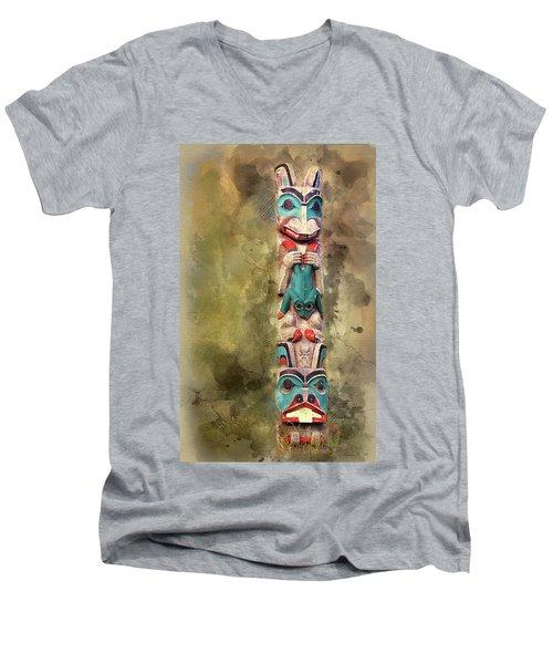 Ketchikan Alaska Totem Pole Men's V-Neck T-Shirt