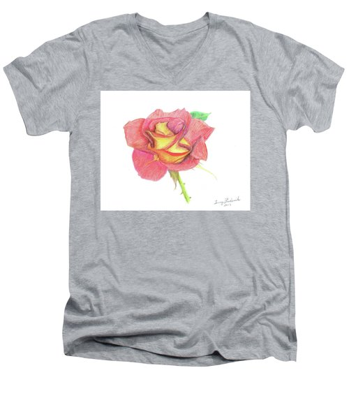 Ketchup And Mustard Rose Men's V-Neck T-Shirt