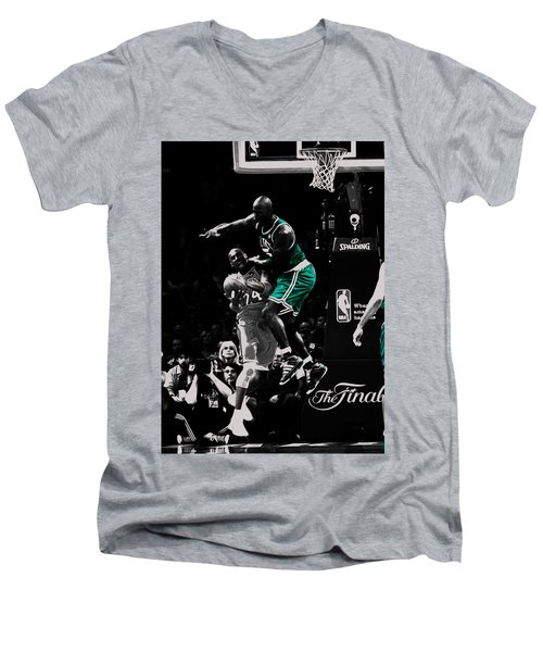 Kevin Garnett Not In Here Men's V-Neck T-Shirt by Brian Reaves