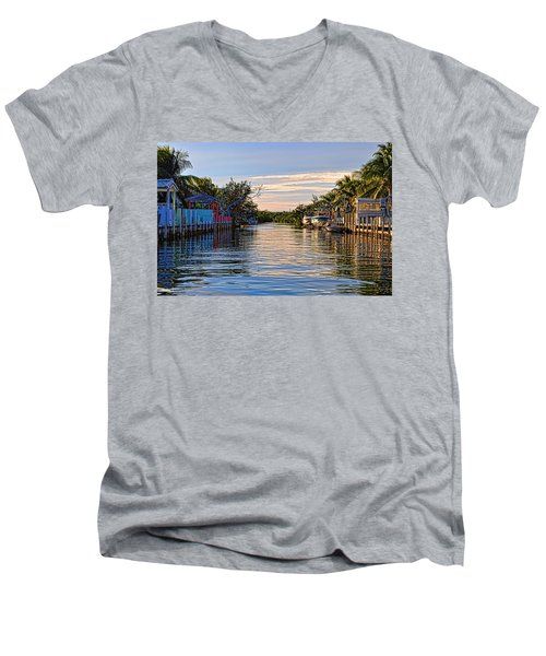 Key Largo Canal Men's V-Neck T-Shirt