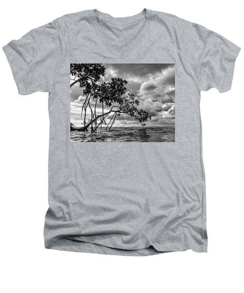 Key Largo Mangroves Men's V-Neck T-Shirt