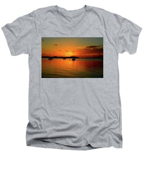 Key Largo Sunset Men's V-Neck T-Shirt