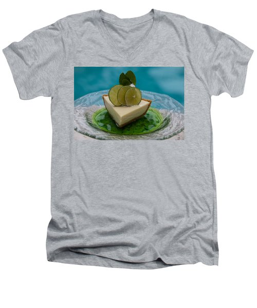 Key Lime Pie 25 Men's V-Neck T-Shirt by Michael Fryd