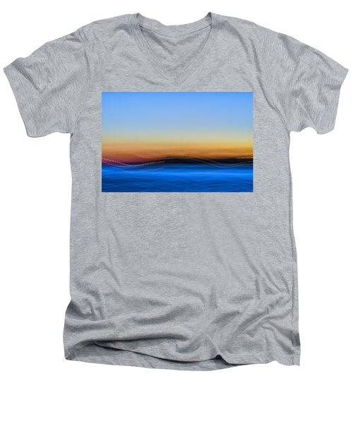 Key West Abstract Men's V-Neck T-Shirt
