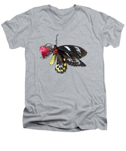 Key West Butterfly 12 Men's V-Neck T-Shirt