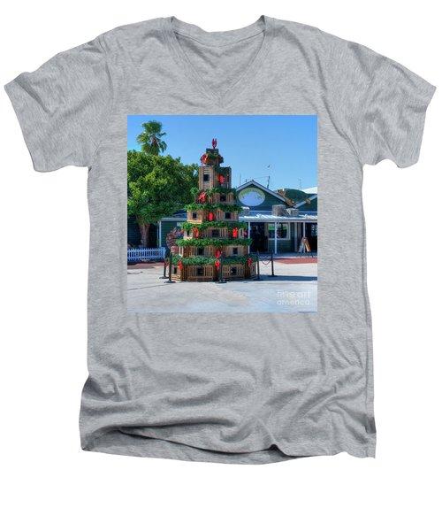 Key West Christmas Men's V-Neck T-Shirt