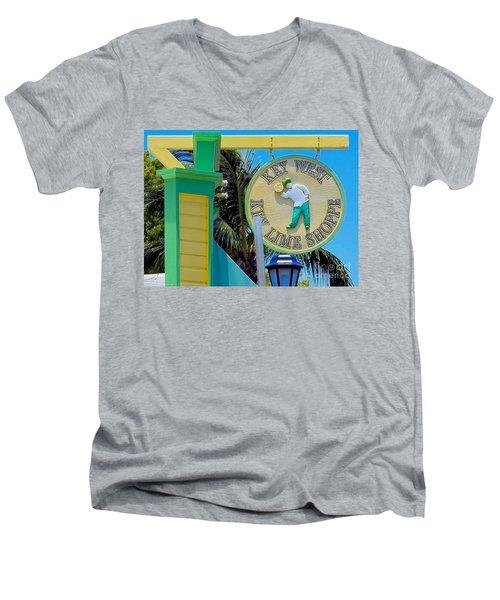 Key West Key Lime Shoppe Men's V-Neck T-Shirt