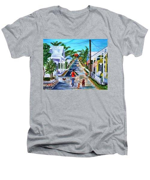 Key West Lane Men's V-Neck T-Shirt