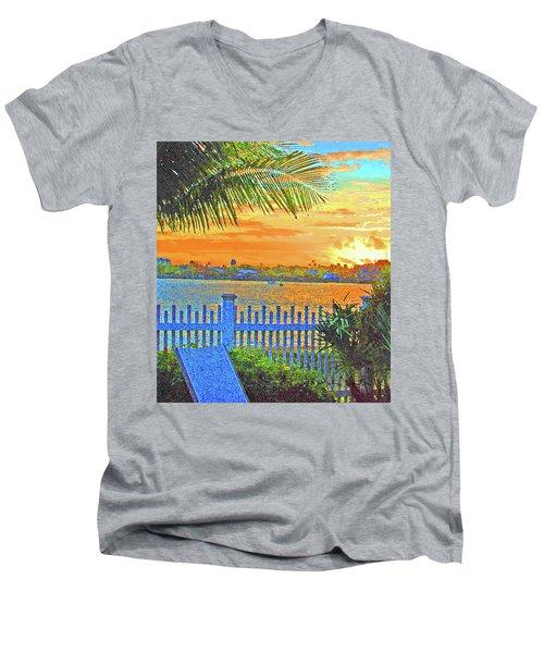 Key West Life Style Men's V-Neck T-Shirt