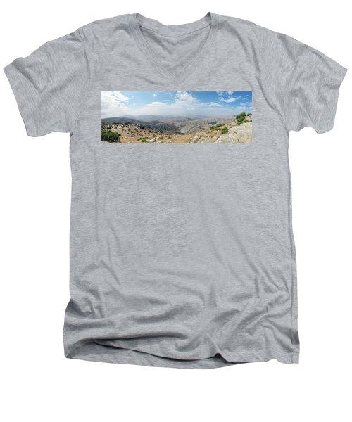 Keys View In Joshua Tree National Park Men's V-Neck T-Shirt