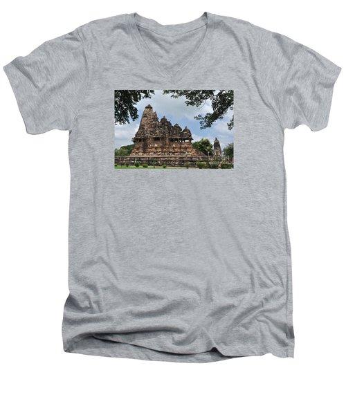 Khajuraho Temples 4 Men's V-Neck T-Shirt