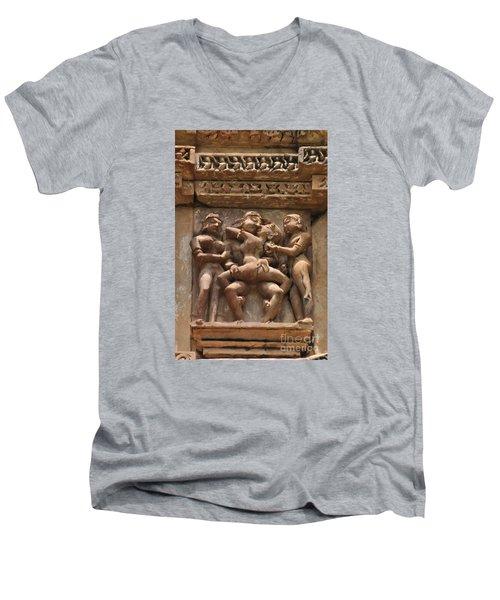 Khajuraho Temples 5 Men's V-Neck T-Shirt