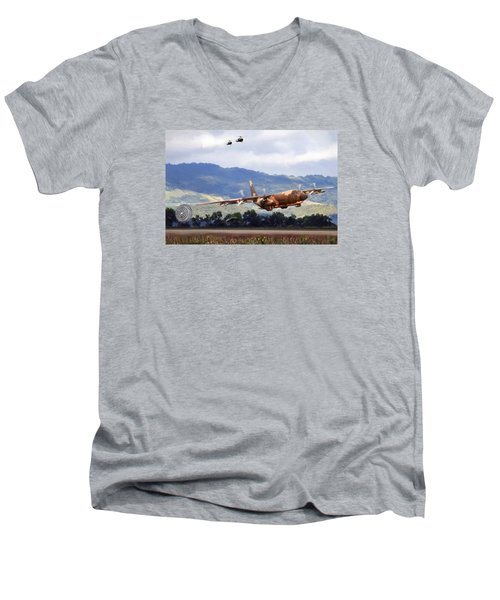 Khe Sanh Lapes C-130a Men's V-Neck T-Shirt