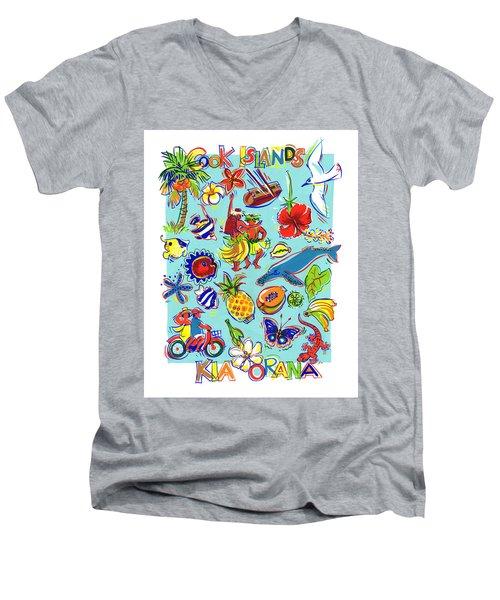 Kia Orana Cook Islands Men's V-Neck T-Shirt