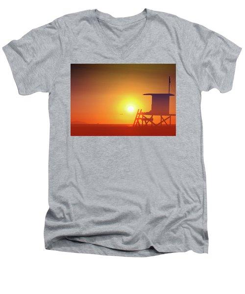 Kicking It Men's V-Neck T-Shirt by Everette McMahan jr