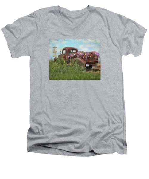 Kicks On Route 66 Men's V-Neck T-Shirt