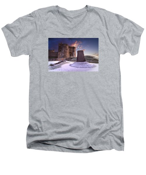 Kidwelly Castle 2 Men's V-Neck T-Shirt