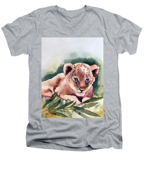 Kijani The Lion Cub Men's V-Neck T-Shirt