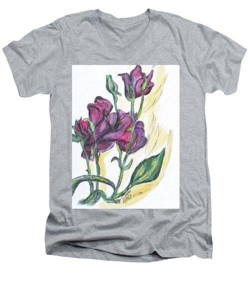 Kimberly's Spring Flower Men's V-Neck T-Shirt by Clyde J Kell
