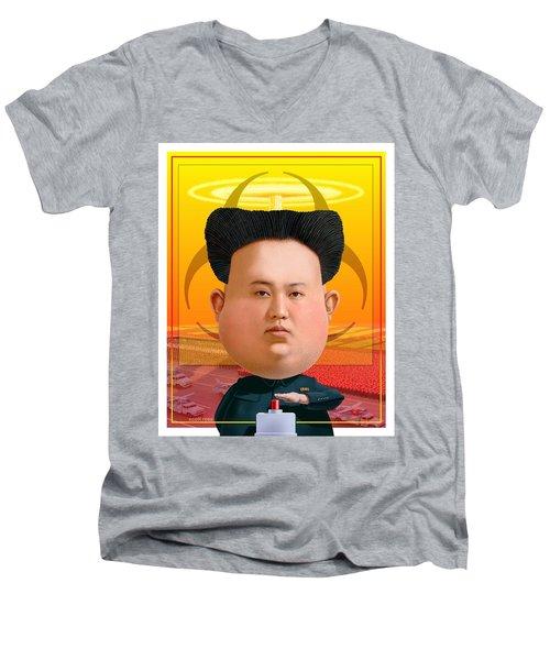 Kim Jong Un 2016 Men's V-Neck T-Shirt