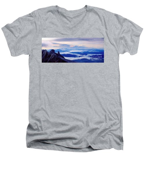 Kinabalu Panorama Men's V-Neck T-Shirt
