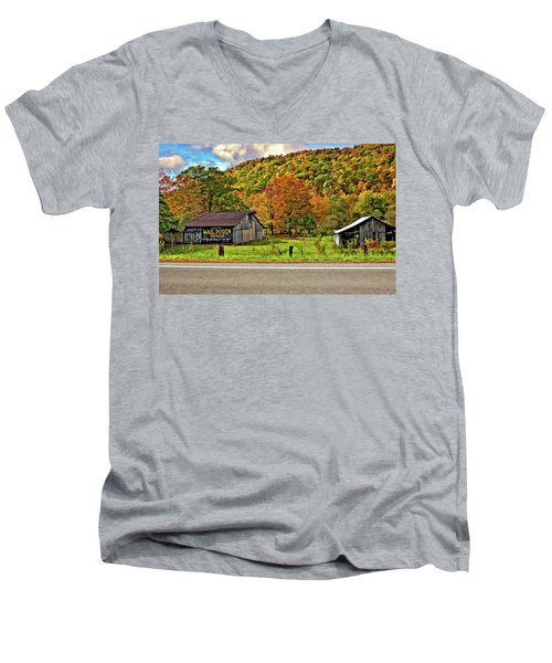 Kindred Barns Men's V-Neck T-Shirt by Steve Harrington