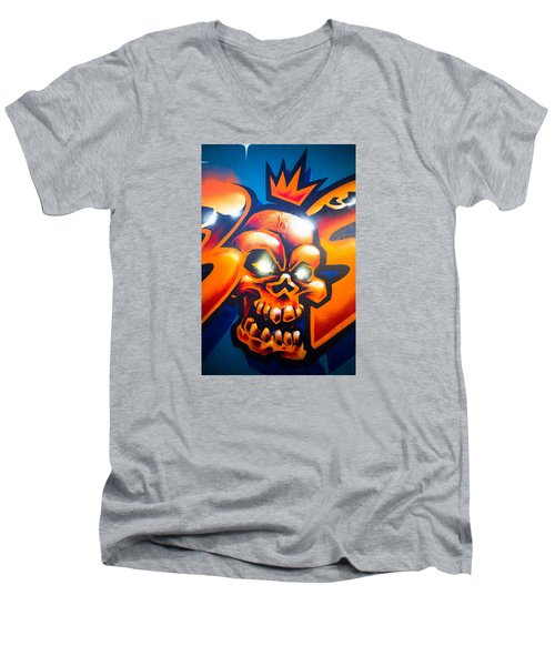 Men's V-Neck T-Shirt featuring the photograph King by Mariusz Czajkowski