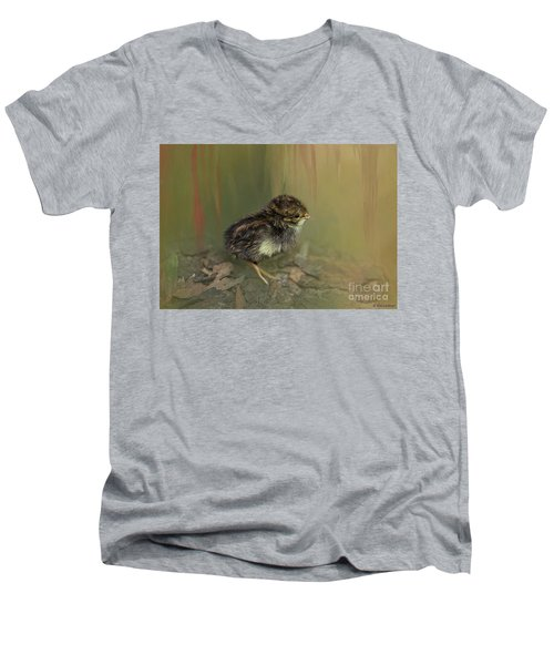 King Quail Chick Men's V-Neck T-Shirt
