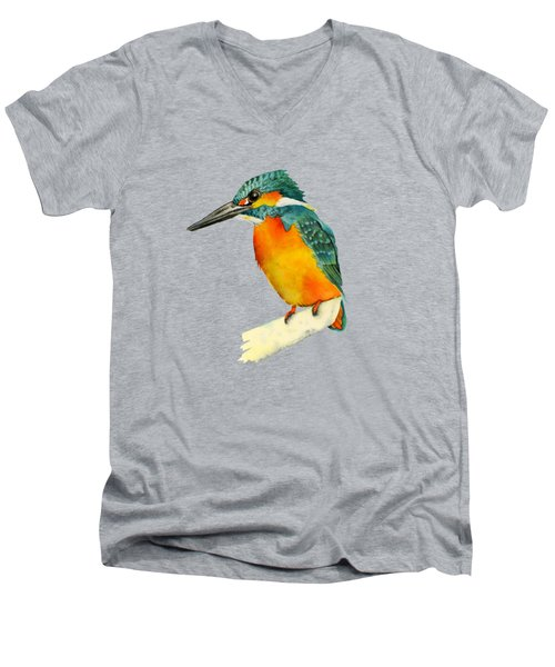 Kingfisher Bird  Men's V-Neck T-Shirt