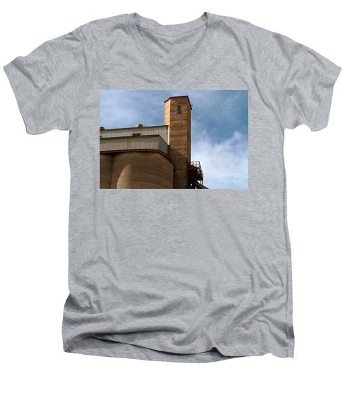 Men's V-Neck T-Shirt featuring the photograph Kingscote Castle by Stephen Mitchell