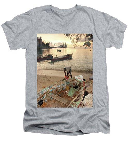 Kingston Jamaica Beach Men's V-Neck T-Shirt