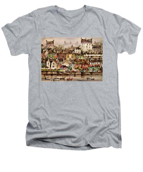 F 906  Kinsale Harbour. Cork Men's V-Neck T-Shirt