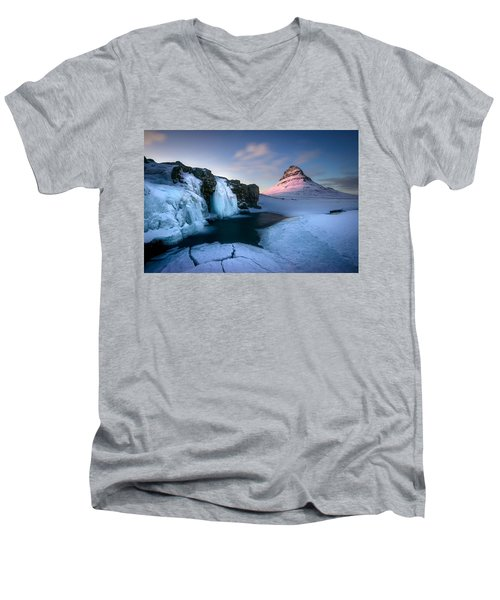 Kirkjufell, Iceland Men's V-Neck T-Shirt