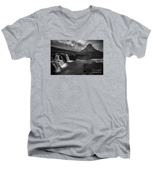 Kirkufellsfoss  Men's V-Neck T-Shirt by Gunnar Orn Arnason