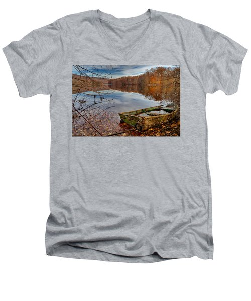 Kiss My Bass Men's V-Neck T-Shirt by Craig Szymanski