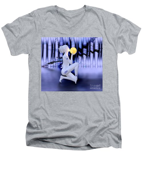 Kissing The Moon Men's V-Neck T-Shirt